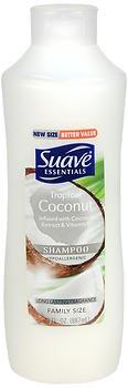 Shampoo Suave Coconut (Suave Essentials Shampoo - Tropical Coconut - Family Size - Net Wt. 30 FL OZ (887 mL) Per Bottle - Pack of 2 Bottles)