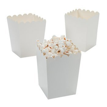 white and blue popcorn bags - 2