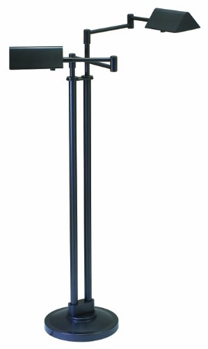 - House Of Troy PIN400-2-OB Pinnacle Collection Portable Halogen 2-Light Floor Lamp, Oil Rubbed Bronze