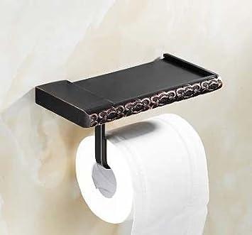 Hlluya Toallero La Toalla Negra Rack Negro 古 Racks Rack de Toallas de baño de Metal Ornamentos, Titular del teléfono móvil: Amazon.es: Hogar
