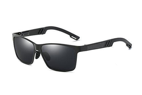 Bevi Polarized Men Square Sport Aluminum Magnesium Driving Riding Cycling Sunglassess - Sunglassess Shop