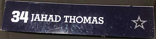 (Jahad Thomas Game Used Locker Room Name Plate Nameplate 36
