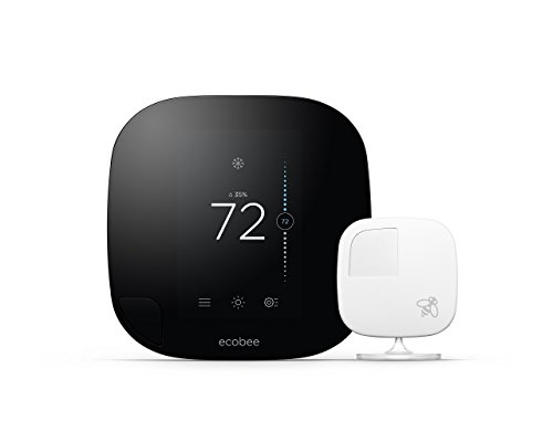 Sensor Temperature Remote Thermostat (ecobee3 Thermostat with Sensor, Wi-Fi, 2nd Generation, Works with Alexa)