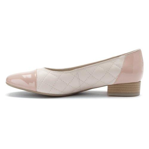 Ara Dames Salie Ballet Vet Off White Leer / Roze Tip