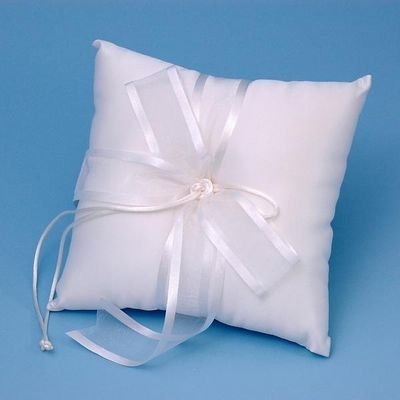 Ivy Lane Design Wedding Accessories Simplicity Ring Pillow, White by Ivy Lane Design