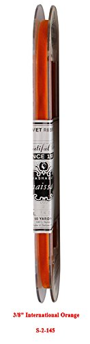 Renaissance 10 Yards Vintage Satin Back Velvet Ribbon Fabric Made in Switzerland (3/8