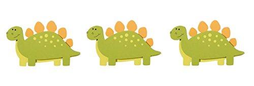 Stegosaurus Wood (Darice Natural Wood Painted Dinosaur Stegosaurus Cutouts - Set of 3)
