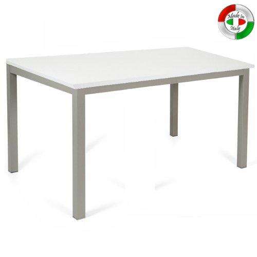 WEBMARKETPOINT Mesa de Comedor Extensible (Madera y Metal de ...