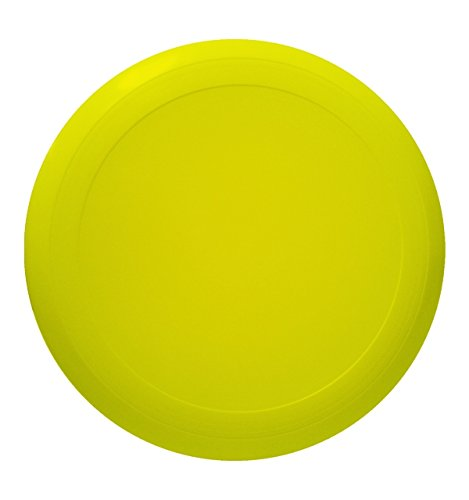 10'' Flying Frisbee Style Hard Plastic Disc - Yellow - Promotional Product - Your Logo Imprinted (Case Pack of 100) by RKM