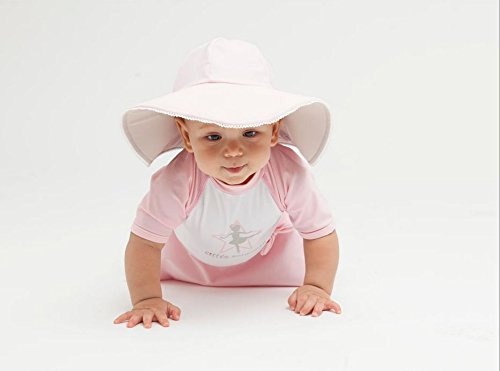 Reversible Sun Protective UPF50+ Hat Little Girls and babies- St Tropez Elly La Fripouille/® Pink and Grey
