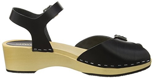 Women's Debutant Black Hasbeens Open Swedish Pia Sandals Toe qtfFHPSxw