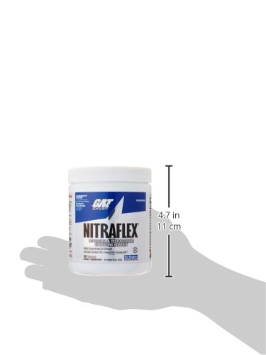 GAT - NITRAFLEX - Testosterone Boosting Powder, Increases Blood Flow, Boosts Strength and Energy, Improves Exercise Performance, Creatine-Free (Blue Raspberry, 30 Servings) by GAT Sport (Image #11)