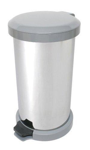 アドフィールド ゴミ箱 吸着密閉 ペダル式 ステンレス 無臭(ムッシュ) 18L グレー B00KCE8TXO グレー グレー