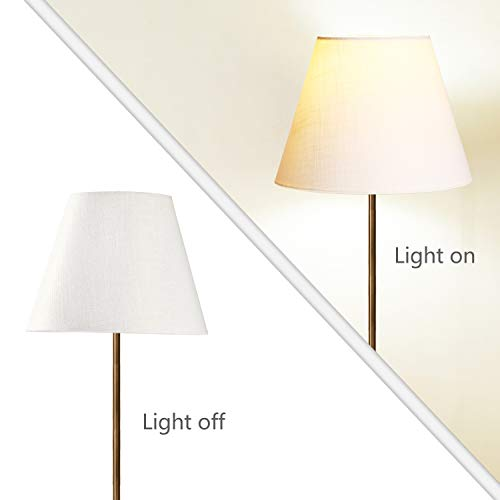 Lamp Shade IMISI Linen Fabric White Lamp Shade Small 5'' Top Diameter x 9'' Bottom Diameter x 7'' Tall (White) by IMISI (Image #4)
