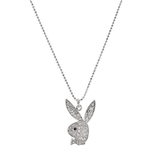 chelseachicNYC Dandy Rhinestone Playful Bunny Necklace -