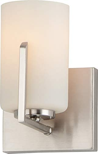 Maxim 21281SWSN Dart Modern Satin White Glass Cylinder Mini Wall Sconce