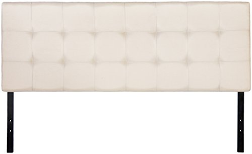 AmazonBasics Faux Linen Upholstered Headboard - Beige, Queen