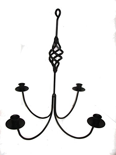 Wrought Iron 4 Arm Candle Chandelier w/ Birdcage ()