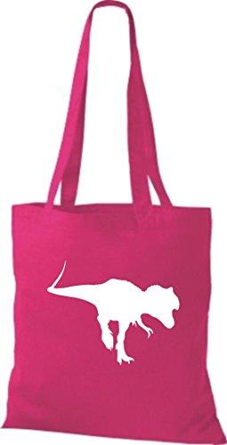 Tela de piel de cocodrilo dinosaurios dinosaurios algodón libro bolsa, bolsa, bolsa de la compra (bolsa de hombro disponible en una gama de colores rosa pastel