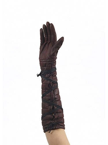 Medieval Female Warrior Brown Gloves