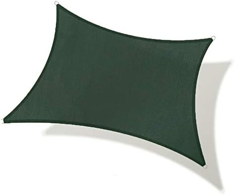 REPUBLICOOL Rectangle 10'x13' Green Sun Shade Sail UV Block Awning Cover