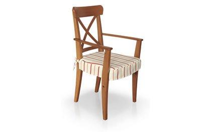 Ikea Ingolf Paris Housse Pour Chaise Avec Accoudoirs A Rayures Rouge