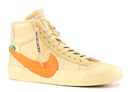 NIKE Mens The 10 Blazer Mid All Hallows Eve Canvas/Total-Orange Leather Size 8.5