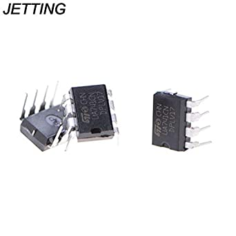 ILS - 10 pieces UA741CN DIP-8 UA741 LM741 ST IC Chip Operational Amplifiers: Amazon.es: Amazon.es
