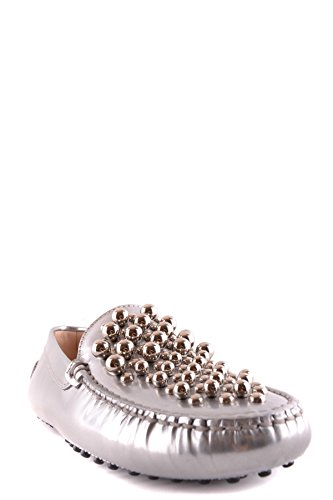 Tod's Women's MCBI293146O Silver Leather Loafers wholesale price online sast cheap online supply cheap price free shipping best prices cheap limited edition 9KifviYCdu