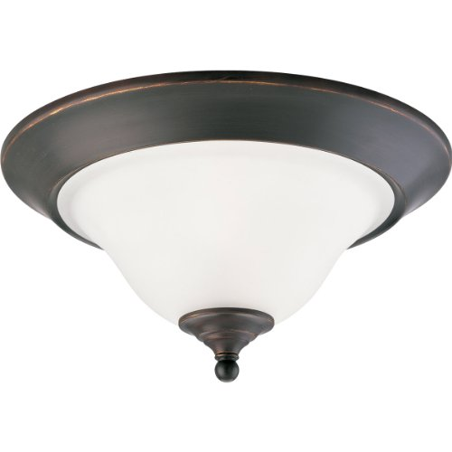 Progress Lighting P3476-20 2-Light Close-to-Ceiling Fixture, Antique Bronze ()