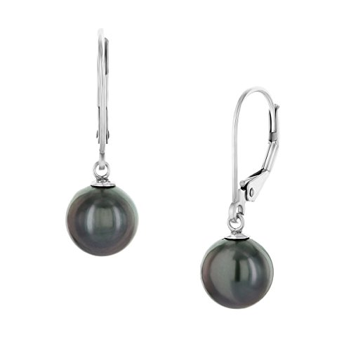 14K-Gold-Round-Tahitian-South-Sea-High-Luster-Cultured-Pearl-Leverback-Earrings-AAA-Quality