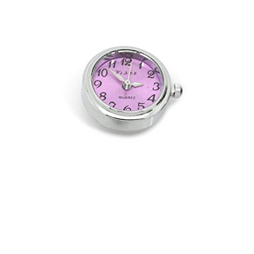 (SEXY SPARKLES Watch Face Chunk Click Buttons Snap for Chunk Bracelet (Fuchsia))