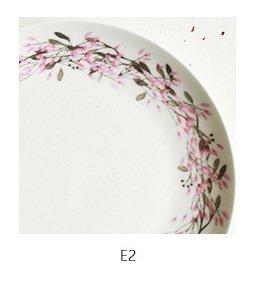 Pastoral Floral Garland bone china dessert plates dishes ceramic tableware kitchen dinner fruit salad plates (8 inch, E2 (Blue Garland Dinner Plate)