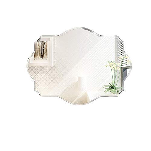 Polygon Makeup Mirror,Wall Makeup Bathroom Mirror,Wall Decorative Mirror for Living Room Bedroom,Horizontal -