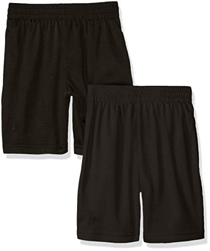 Starter Big Boys' 2-Pack Basic Mesh Short, Black, Medium