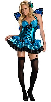 [Secret Wishes Sexy Fantasy Fairy Costume, Blue, X-Small] (Fairies Costumes For Women)