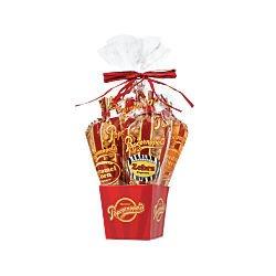 Popcornopolis Mini 5-cone Variety Popcorn Gift Basket, Gluten Free (Non Food Gift Baskets)