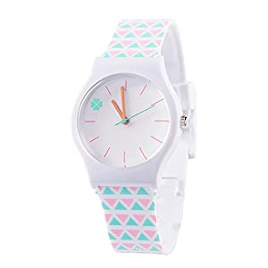 Tonnier Teenagers Young Girls Watches Resin Band Kids Watches