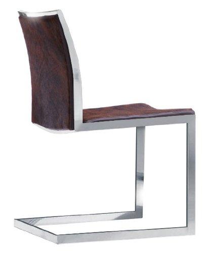 Amazon.com: Rennes silla de comedor – Piel de vacuno ...