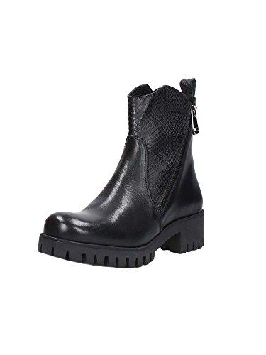 CAF NOIR FC116 t. dunkle Schuhe Frau Boot-Stummel Doppelreißverschluss I16.010 NERO