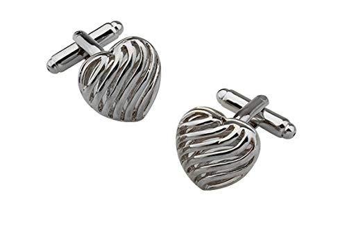 - Daesar Cufflinks for Men Cuff Links for Tuxedo Heart Cuff Link White Men Shirt