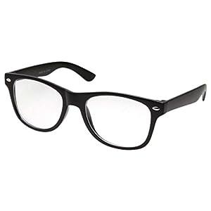 Kids Nerd Glasses Clear Lens Geek Costume Black Frame Children's (Age 3-10)