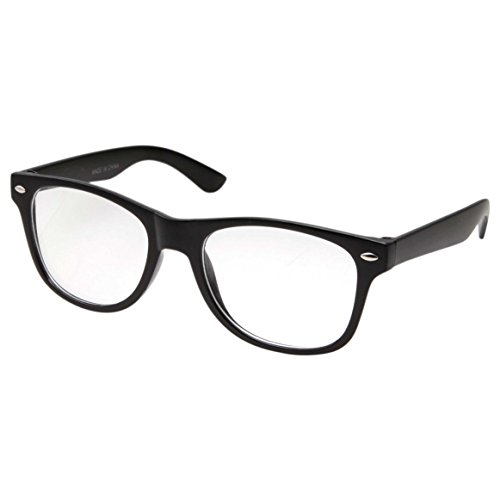 Geek Costume Girl (Kids Nerd Glasses Clear Lens Geek Costume Black Frame Children's (Age 3-10))