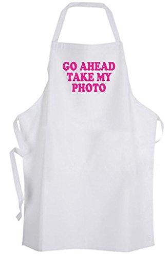 Go Ahead Take My Photo - Adult Size Apron - (Paparazzi Tie)
