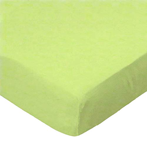 SheetWorld Fitted Crib / Toddler Sheet - Flannel - Lime - Made In USA, 1 Piece ()