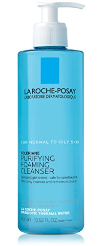 Toleriane Purifying Foaming Face Wash Cleanser for Normal To Oily Senitive Skin, 13.5 fl. oz.