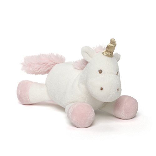 "GUND Baby Luna Unicorn Stuffed Animal Plush Rattle, 4"" - Pink Baby Gund Plush"
