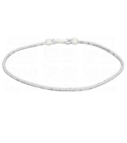 (Phiten Classic Necklace, White, 22