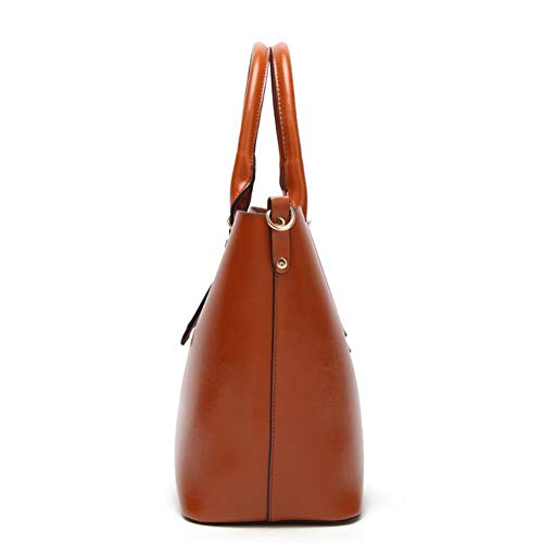 Bag PU Handbag Bag Single A Woman Lady Hongge Shoulder Capacity Bag Simple Large Fashion Bucket xUSngPqwf8