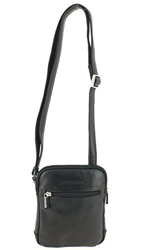 Arthur&Aston , Damen Satchel-Tasche schwarz schwarz 16 L x 20 H x 4 E cm